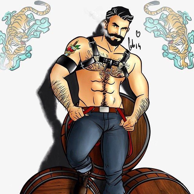 Cartoon Gay Leather