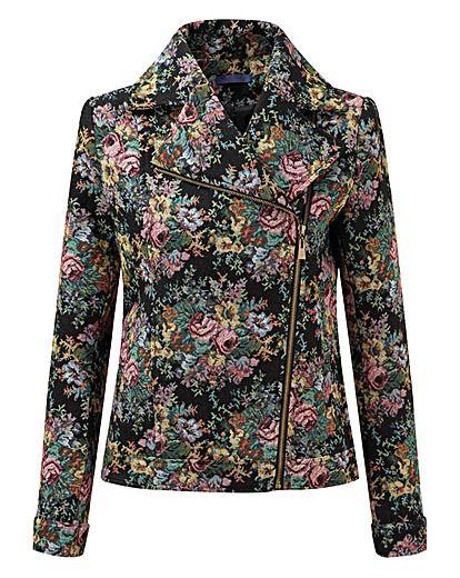 Joe Browns tapestry biker jacket | Simply Be