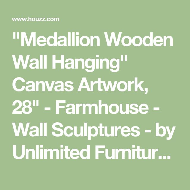 """""""Medallion Wooden Wall Hanging"""" Canvas Artwork, 28"""" - Farmhouse - Wall Sculptures - by Unlimited Furniture Group"""