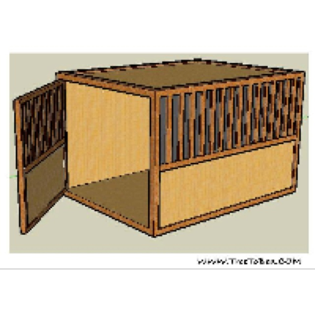 32 best wooden dog crate images on pinterest dog crates dog crate furniture and wood dog Wooden crates furniture