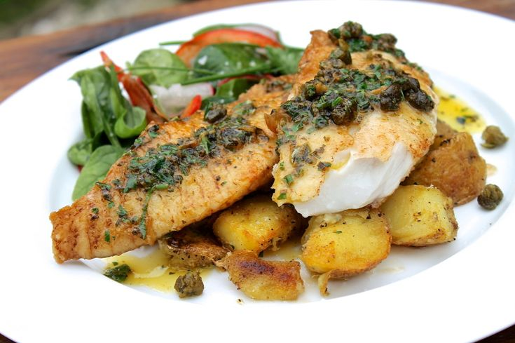 Pan fried fish with lemon & herb butter sauce - ChelseaWinter.co.nz