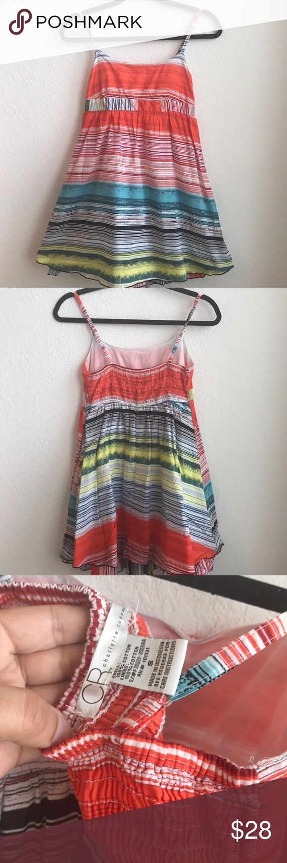 CR STRIPED DRESS 💗Condition: EUC, No flaws, no rips, holes or stains. Stretches at the back and can accommodate different bust sizes. Adjust in the straps for shorter and longer length.  💗Smoke free home/Pet hair free 💗No trades, No returns. No modeling  💗 I don't drop prices, make me offers!  💗Shipping next day. Beautiful package! 💗ALL ITEMS ARE OWNED BY ME. NOT FROM THRIFT STORES 💗All transactions video recorded to ensure quality.  💗Ask all questions before buying Charlotte Russe…