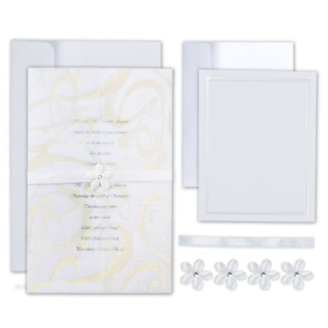 Precious Flower Printable Wedding Invitations Kit   Party City