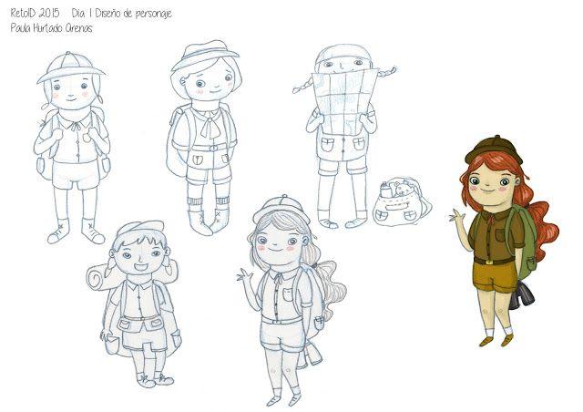 #RetoID 2015 Día 1: Diseño de Personaje Paula Hurtado Arenas El bosque entintado