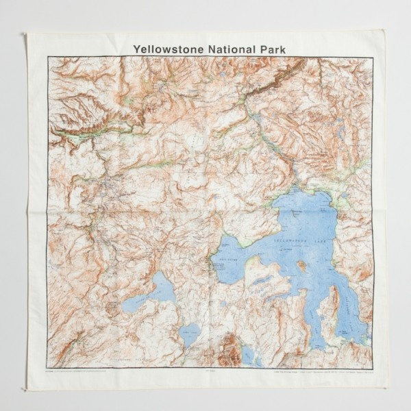 Yellowstone Map Bandana.