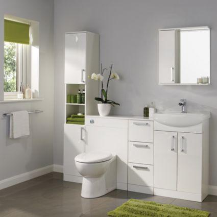 Ardenno Gloss White Vanity Unit Amp Basin Set White Vanity Vanity Units And Basins