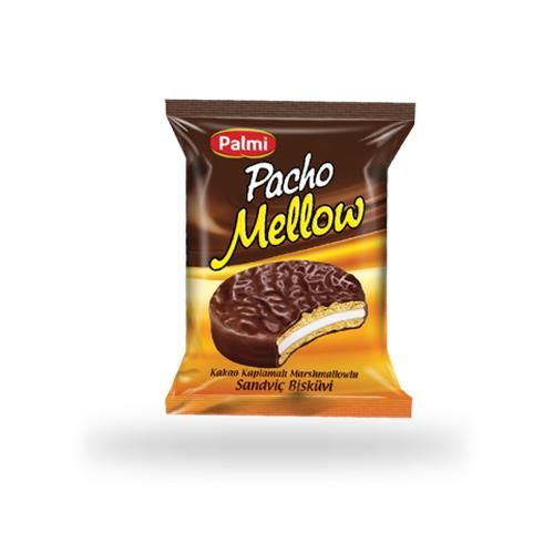 Pacho Mellow - Cocolin Coated Marshmallow Sandwich Biscuits 30 gr.