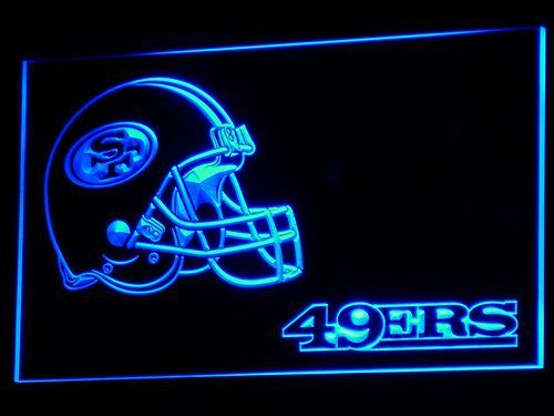 San Francisco 49ers Helmet LED sign only $21.99 and free shipping. Buy Now!!----->  http://ledsignlights.com/product/san-francisco-49ers-helmet-led-sign-light-nfl/   FREE SHIPPING anywhere!!!!      Excellent for displaying in your shop, bar, pub, club, restaurant, room for a birthday, graduation, wedding, anniversary etc.. and anywhere you like?    	Approximate size: W: 300mm x H: 200mm.