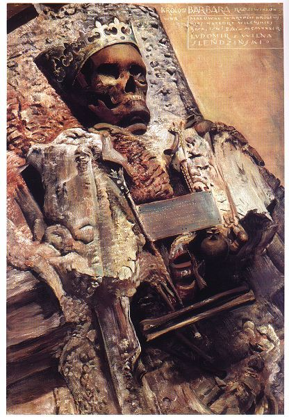 Remains of Barbara Radziwiłłówna - painting of Ludomir Ślendzyński