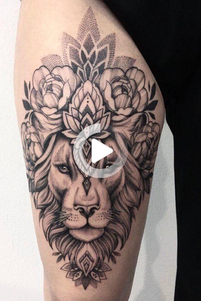 Tattoodo In 2020 Thigh Tattoos Women Hip Tattoos Women Lioness Tattoo