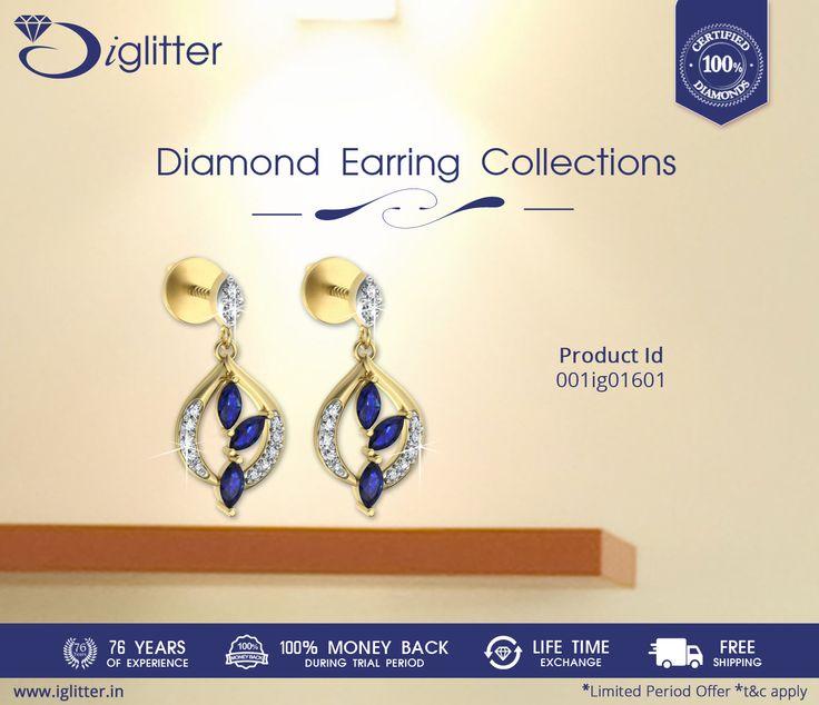 IGlitter Diamond Earring Collection Shop Now: http://bit.ly/1FJIbb2  #iGlitterindia #Diamond #Earrings #Jewellery