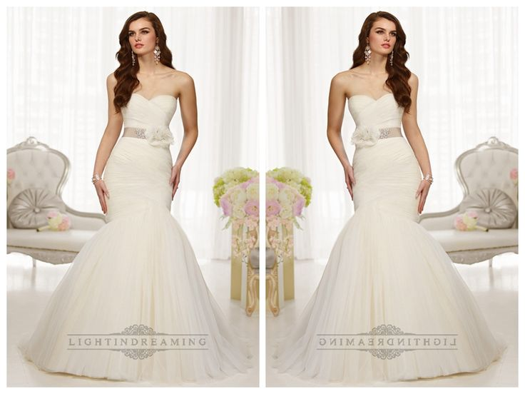 Fit and Flare Sweetheart Ruched Bodice Wedding Dresses with Detachable   Beading Belt http://www.ckdress.com/fit-and-flare-sweetheart-ruched-bodice-wedding-  dresses-with-detachable-beading-belt-p-514.html  #wedding #dresses #dress #lightindream #lightindreaming #wed #clothing   #gown #weddingdresses #dressesonline #dressonline #bride