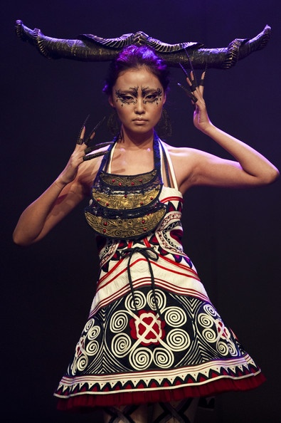 Ika Butoni of Indonesia at the 'Butterfly Momma' show Fall 2011