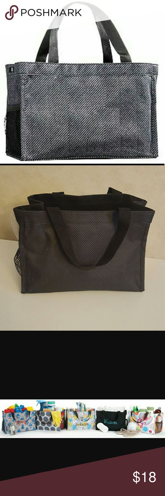 Thirty-One All In One Organizer Textured Twill Bla Thirty-One All In One Organizer in Textured Twill pattern, still brand new! It is open at the top, has pockets on  the outside and sturdy webbed handles.   This bag has SO many uses! It can keep anything organized or use it as a small diaper bag!  Smoke free home. I will gladly bundle items to give you a discount (the more you buy, the cheaper I can let everything go!). Many items can be added on for only $1. Thirty-One  Bags Baby Bags