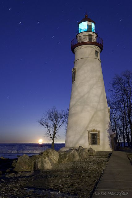 Marblehead Light in Marblehead, Ohio is the oldest lighthouse in continuous operation on the Great Lakes and has been operating since 1822.