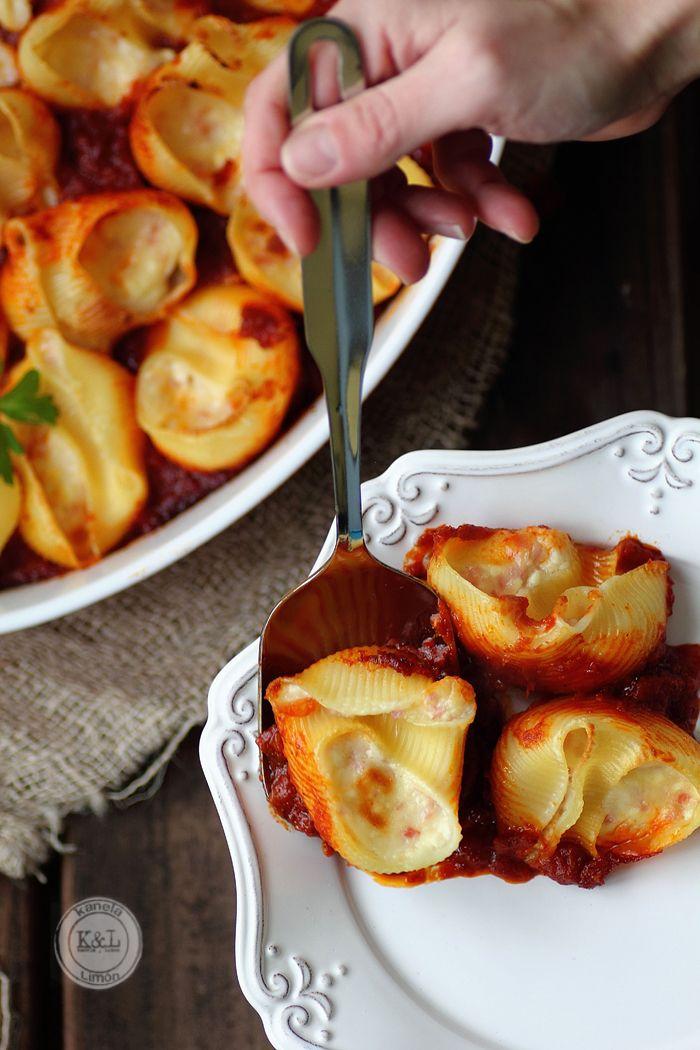 Kanela y Limón: Pasta rellena a los 4 quesos (4 cheese stuffed pasta)