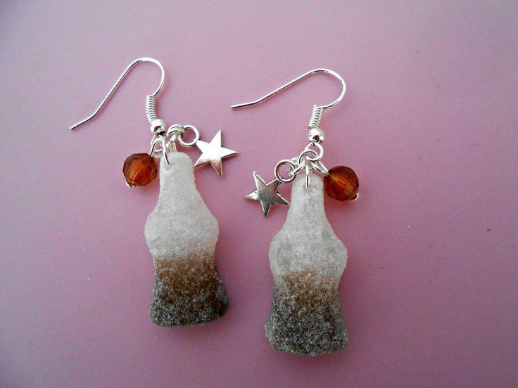 Boucle d'oreille bonbon coca : Boucles d'oreille par lauura-creatiions