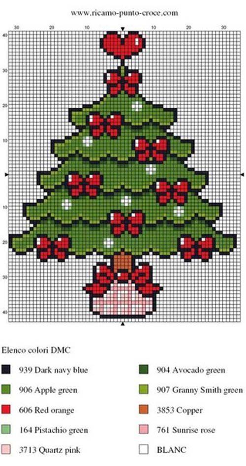 Patrones para arboles navideños en punto de cruz09
