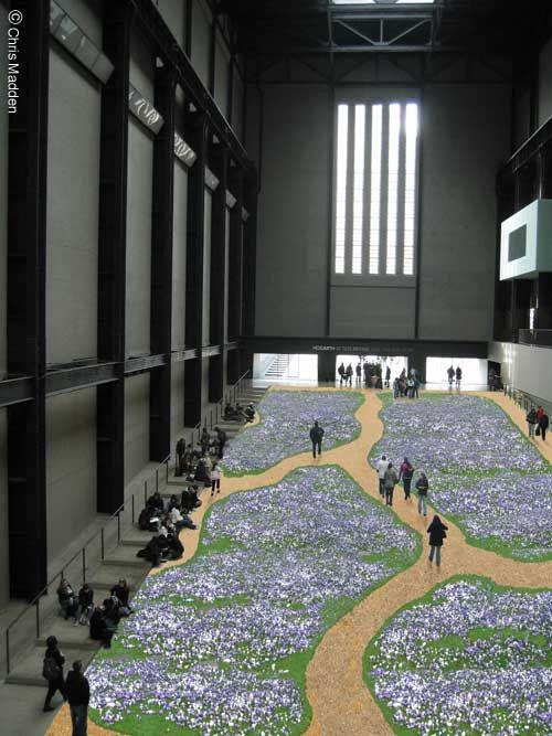 Tate Modern Turbine Hall Installation: Crocus Carpet   Art ...
