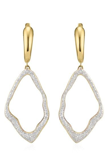 Monica Vinader 'Riva' Diamond Drop Earrings available at #Nordstrom