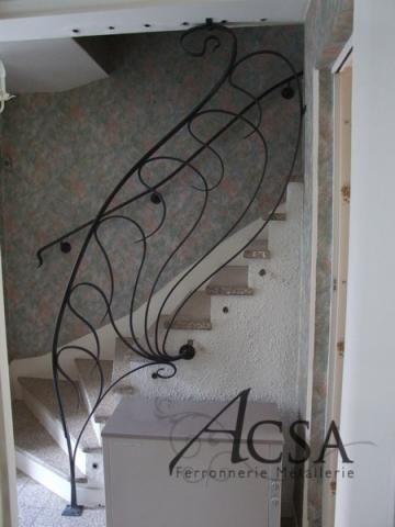 rampe d 39 escalier fer forge acsa ferronnerie d 39 art artisanale ferronnerie metalwork. Black Bedroom Furniture Sets. Home Design Ideas