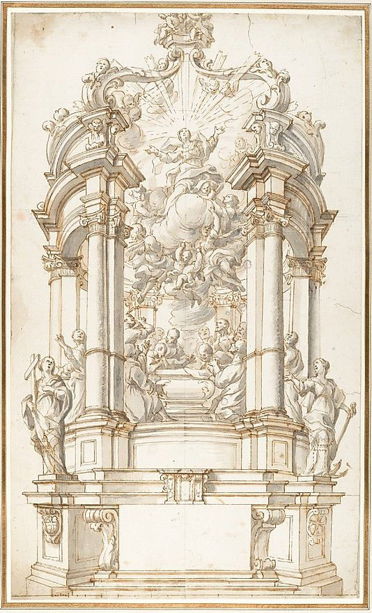 Design for a Freestanding Altar dedicated to the Assumption of the Virgin.