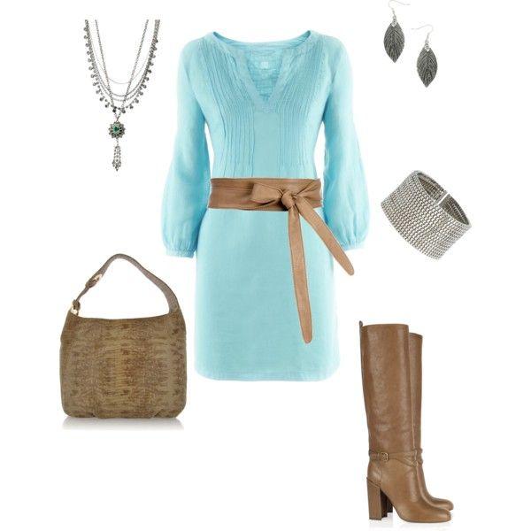 Cute dress: Color Combos, Dresses Boots, Baby Blue Dresses, Cute Dresses, Dresses Belts, Styles, Aqua Dresses, The Dresses, Cute Love