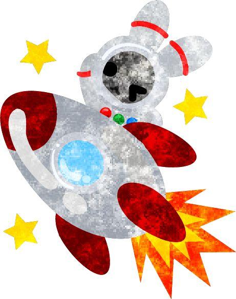 フリーのイラスト素材宇宙飛行士の姿をした可愛いウサギ  Free Illustration The pretty little rabbit which does the figure of the astronaut   http://ift.tt/25H8Ljk