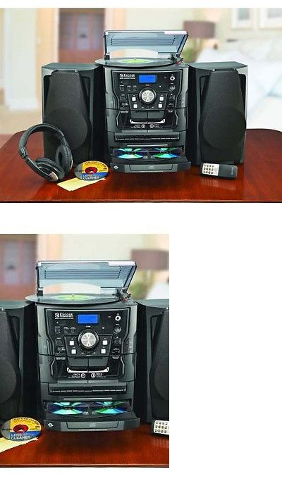 Compact and Shelf Stereos: Encore Shelf Stereo System With Turntable, 3-Cd, Radio And Dual Cassette Player BUY IT NOW ONLY: $218.36