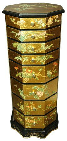 Oriental furniture beautiful japanese chinese for Hand painted oriental furniture
