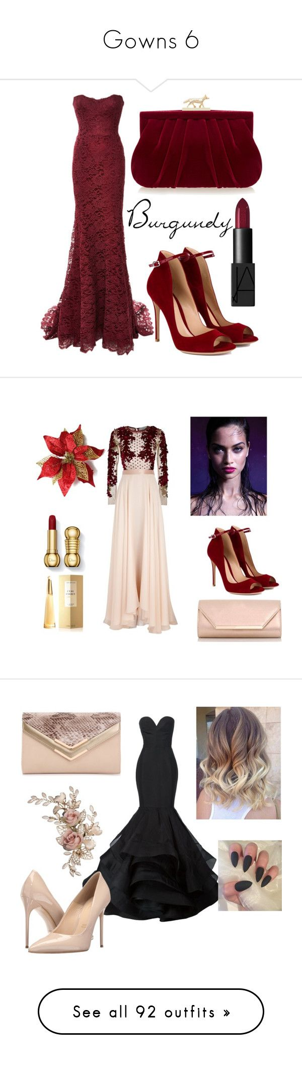 """""""Gowns 6"""" by hallierosedale ❤ liked on Polyvore featuring dresses, gowns, gown, long dresses, beige, beige dress, floor length gowns, chiffon gowns, beige evening dress and Monique Lhuillier"""
