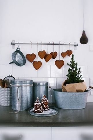 A festive kitchen counter for the holiday season.