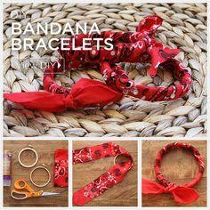 DIY Bandana Bracelets Feature by Trinkets in Bloom
