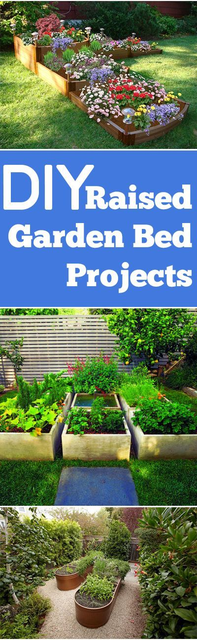 DIY Raised Garden Bed Projects.  Tips, Designs and Tutorials for DIY Raised Garden Projects