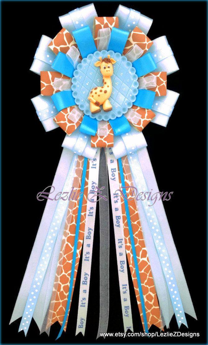 Safari Baby Giraffe Print Theme Baby Shower por LezlieZDesigns