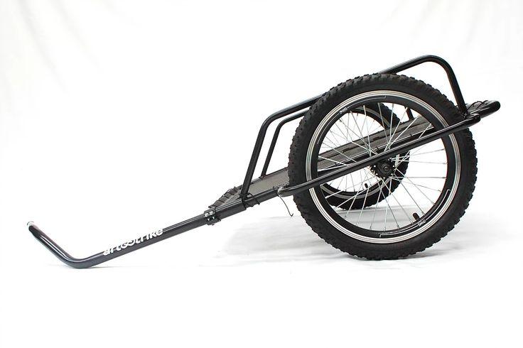 Reboque para bicileta, marca Art Trike, preto, aro 16, cicloturismo, bagagem, cargas, trailer, mini reboque, duas rodas