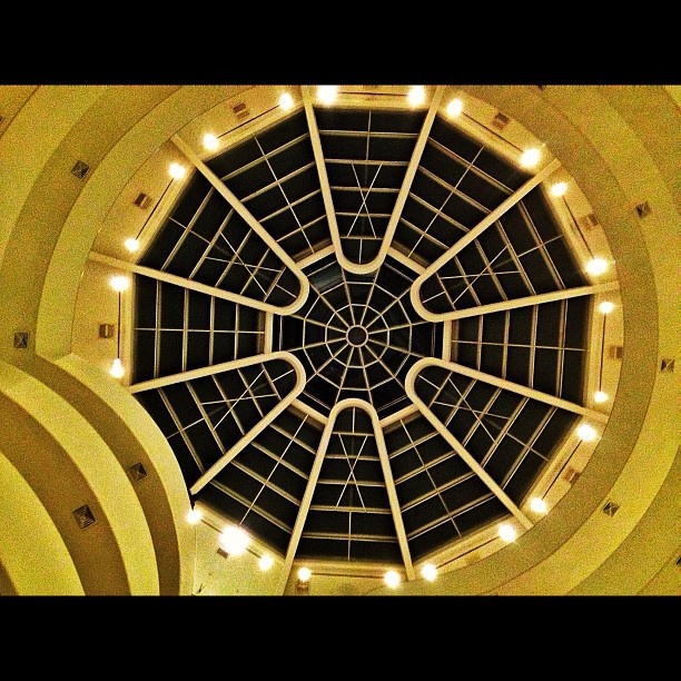 The awesome geometrical dome of the Guggenheim museum, New York