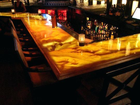 Bar Top Lighting Onyx Under Counter