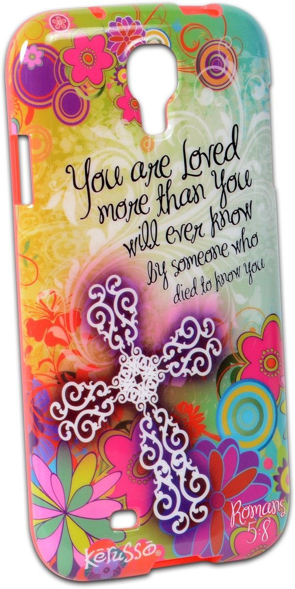 You Are Loved Floral Galaxy 4 Phone Case