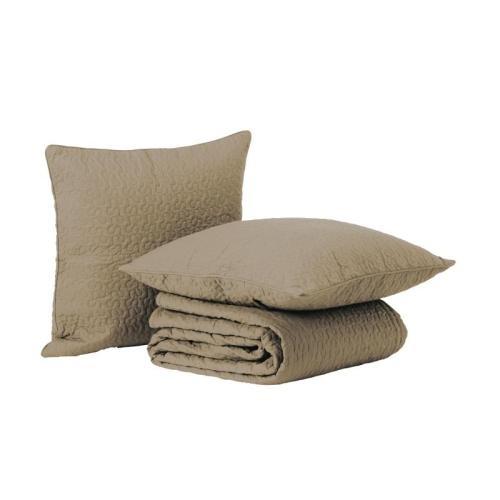 ALINA Κάλυμμα κρεβατιού και 2 καλύμματα μαξιλαριόυ, μπεζ  €69,00