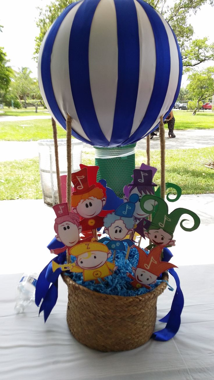 Hand Made Blue Hot air balloon for Baby First TV Notekin