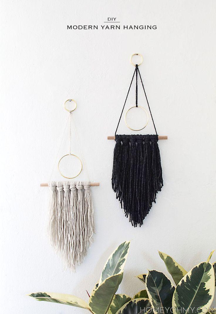 DIY Modern Yarn Hanging - Homey Oh My!