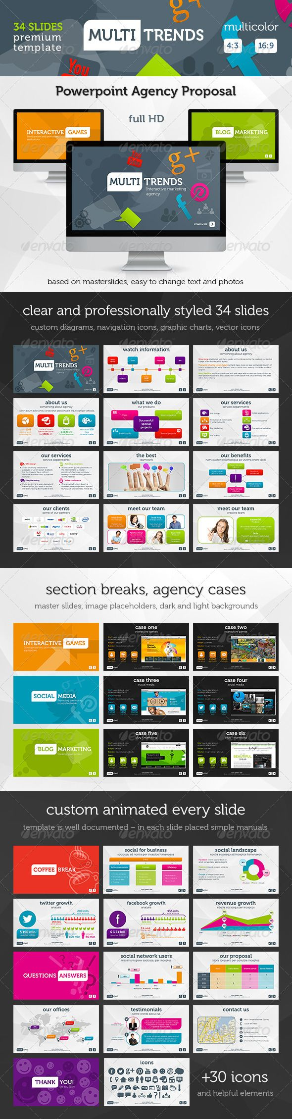 Multi Trends PowerPoint Presentation Template