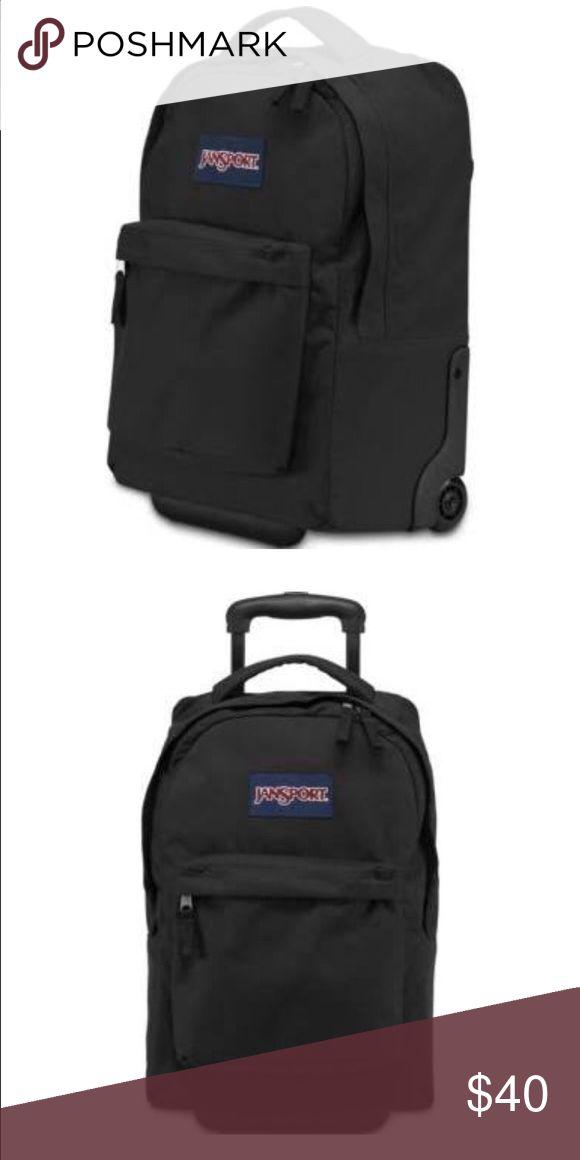 Jansport Rolling Backpack Like new, lightly used rolling backpack. Jansport Bags Backpacks
