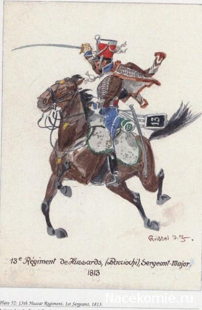 13e Régiment de Hussards, Sergent-Major 1813