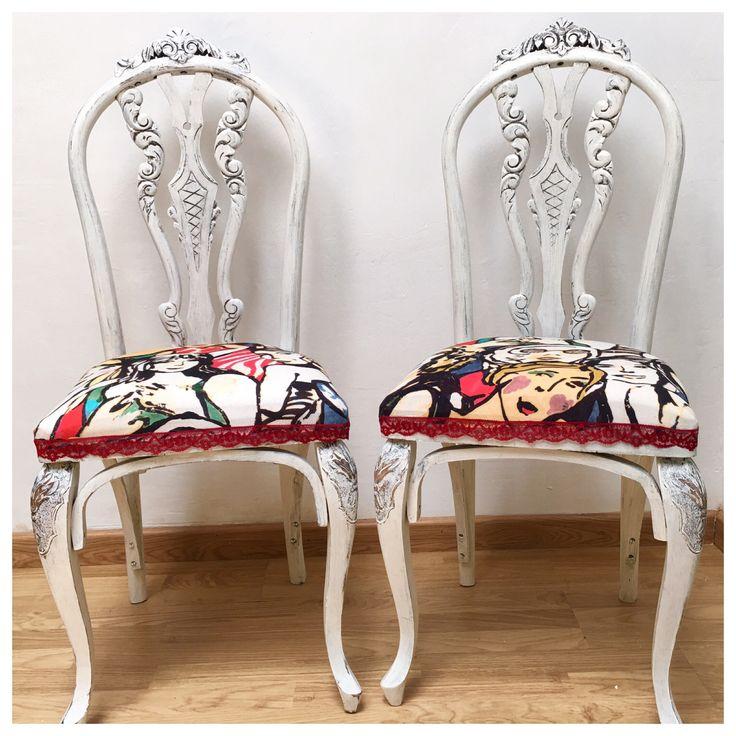 Tu tienda online vintage sillas restauradas sillas - Mesas de comedor restauradas ...