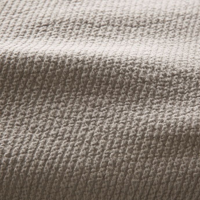Donkergrijze katoenen sprei en kussenhoes met diagonale strepen - Dekens - Bed | Zara Home Holland