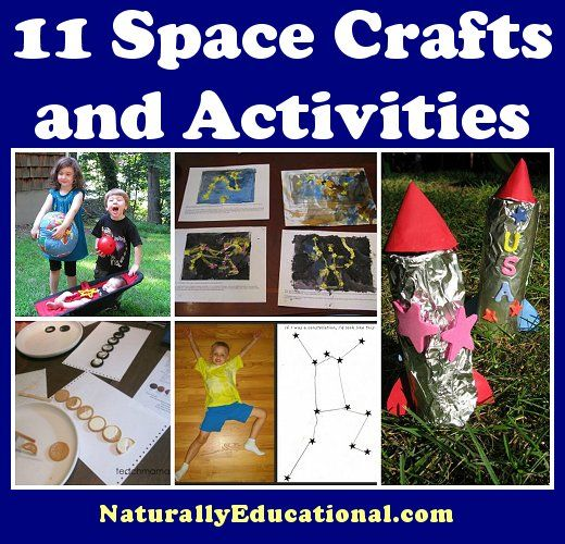 11 Space Crafts and Activities to get kids zooming off to outer space in their imaginations!
