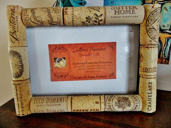 wine cork frame corkboard - Wine Cork Picture Frame