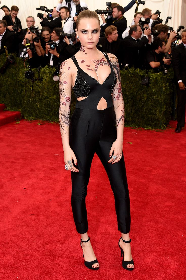 Cara Delevingne in Stella McCartney at the Met Gala 2015